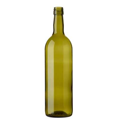 Bordeaux wine bottle BVS 75 cl olive green