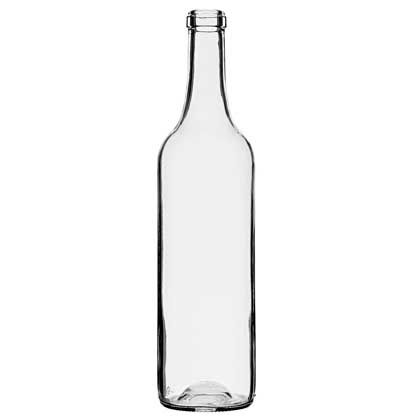Bordeaux wine bottle cetie 70cl white
