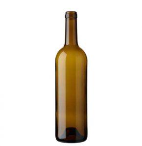 Bordeaux wine bottle cetie 75cl oak Tradition H63mm