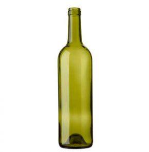 Bordeaux wine bottle cetie 75cl russet Tradition H63mm