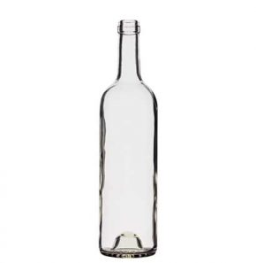Bordeaux wine bottle cetie 75cl white Tradition H63mm