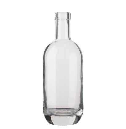 Gin bottle bartop 70cl white Moonea