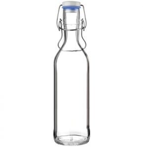 Glass bottle Pure Bottle 75cl blue with handle