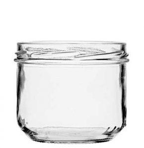 Jar 260 ml white TO82