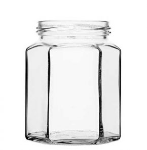 Jar 288 ml white TO63 6 facets