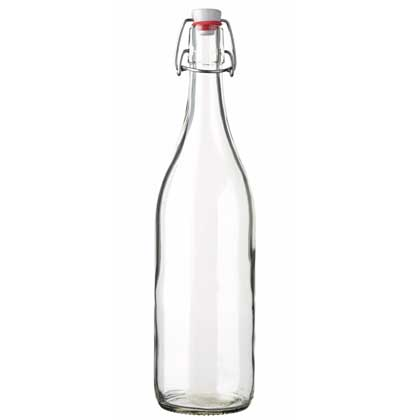 Swing top Juice bottle 100 cl white