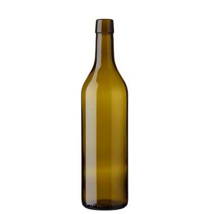 Vaud wine bottle bartop 70 cl olive green