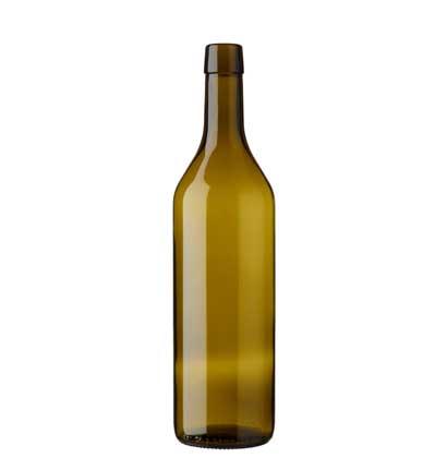 Vaud wine bottle bartop 75 cl olive green