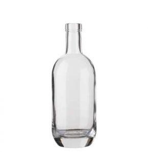 Vodka bottle bartop 50cl white Moonea