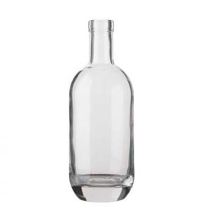 Vodka bottle bartop 70cl white Moonea