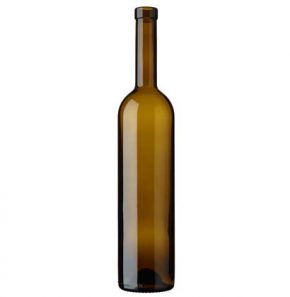 Bordeaux wine bottle bartop 75 cl oak 350mm