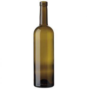 Bordeaux wine bottle bartop 75cl oak Tradition