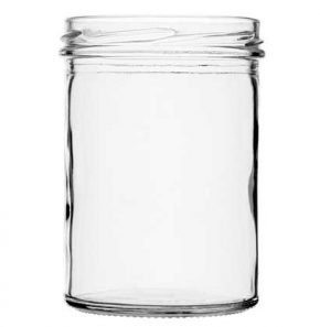 Jam Jar 435 ml white TO82