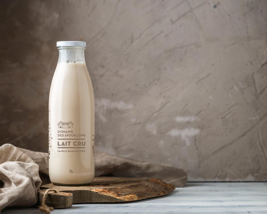 Bouteilles de lait en verre