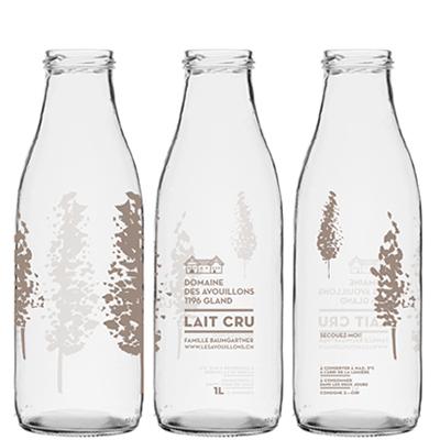 Milchflaschen aus Glas