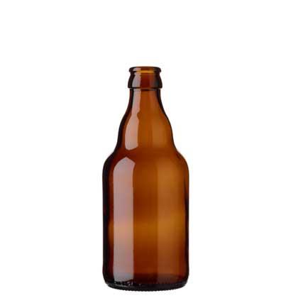 Beer bottle crown 33cl Steinie brown