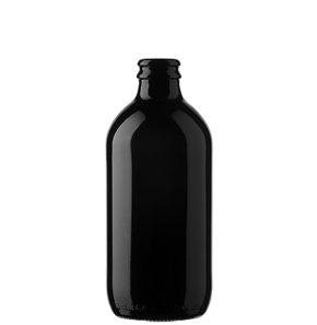 Bouteille à bière couronne 33cl Stubby noir