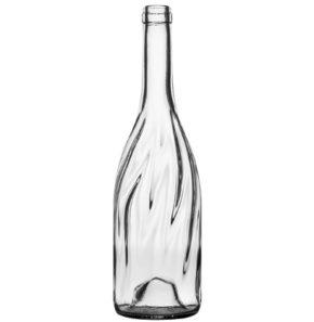 Weinflasche Burgunder Band 75cl weiss Vertigo