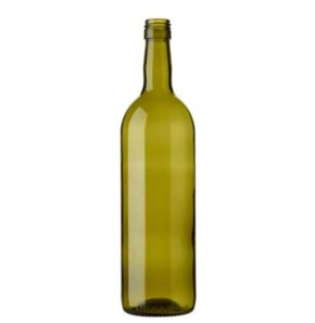 Bordeaux wine bottle BVS 75 cl olive green