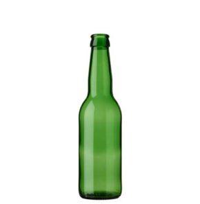 Beer bottle crown 33cl Long Neck green