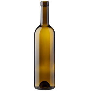 Bordeaux wine bottle bartop 70cl oak Prestige