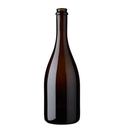 Champagne bottle crown 75 cl antique Monterossa