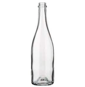 Champagne bottle crown 75 cl white light