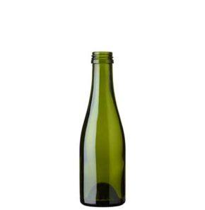 Champagne bottle quart screw 18.75 cl green
