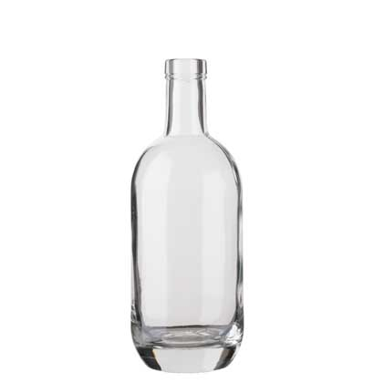 Gin bottle bartop 50cl white Moonea