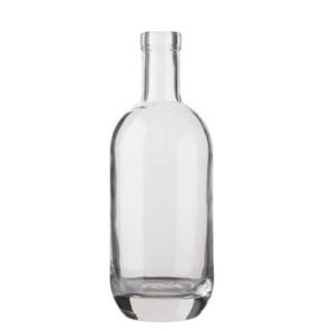 Gin bottle bartop 70cl white Moonea
