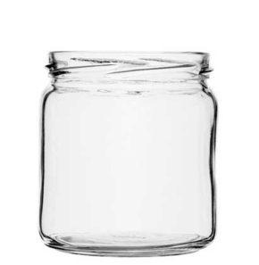 Jar 408 ml white TO82