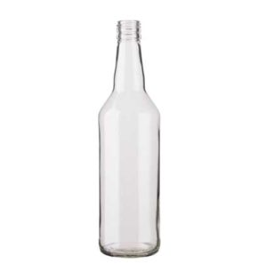 Spirit bottle round DV 31,5/H44 70cl white