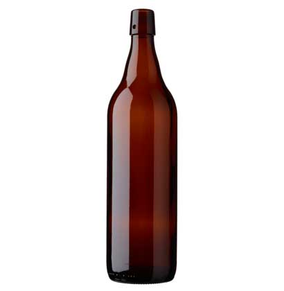 Swing top beer bottle 100cl Steinie brown