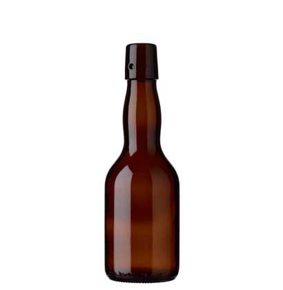 Swing top beer bottle 33cl Lochmund brown