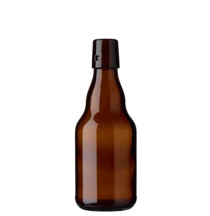 Swing top beer bottle 33cl Steinie brown