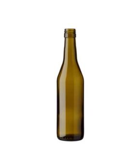 Vaud wine bottle BVS 37.5 cl olive green