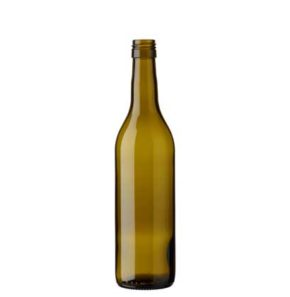 Vaud wine bottle BVS 50 cl olive green