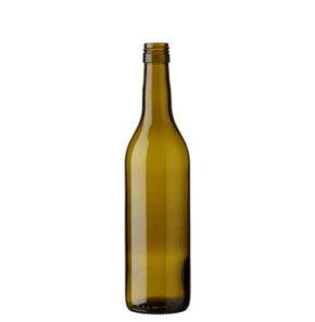 Vaud wine bottle BVS 50 cl olive green