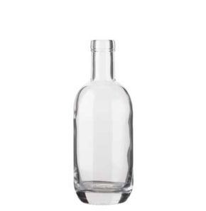 Vodka bottle bartop 35cl white Moonea