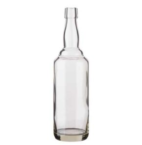 Whisky bottle bartop 70cl white Kropfhals