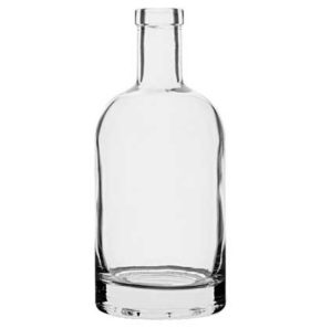 Whisky bottle bartop 70cl white Nocturne