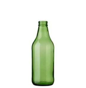 Beer bottle CH3 crown screw 33cl green
