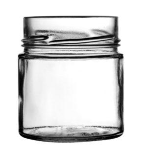 Deep glass jar TO70 212ml H18