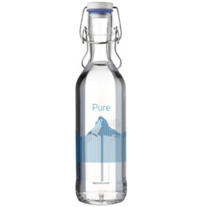 Water carafe Pure Bottle 75cl blue Mountains