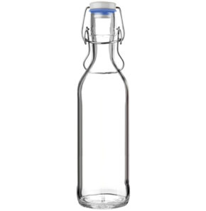 Water carafe Pure Bottle 75cl blue with handle