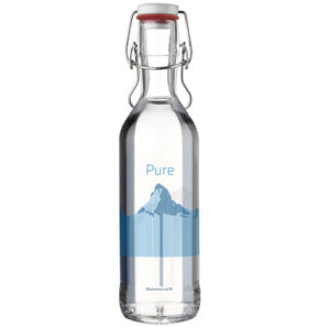 Water carafe Pure Bottle 75cl red Mountains