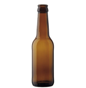 Beer bottle crown 25cl Long Neck Brown