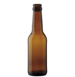 Bouteille à bière couronne 25cl Long Neck brun