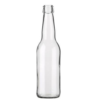 Bouteille à bière couronne 33cl Long Neck blanc (légère)