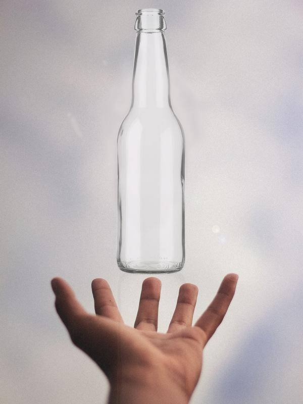 bouteille en verre léger